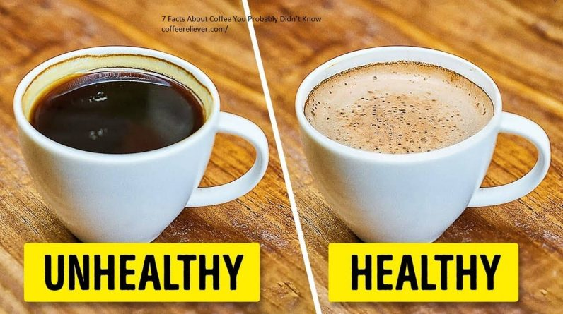 This is Picture about healthy and unhealthy coffee