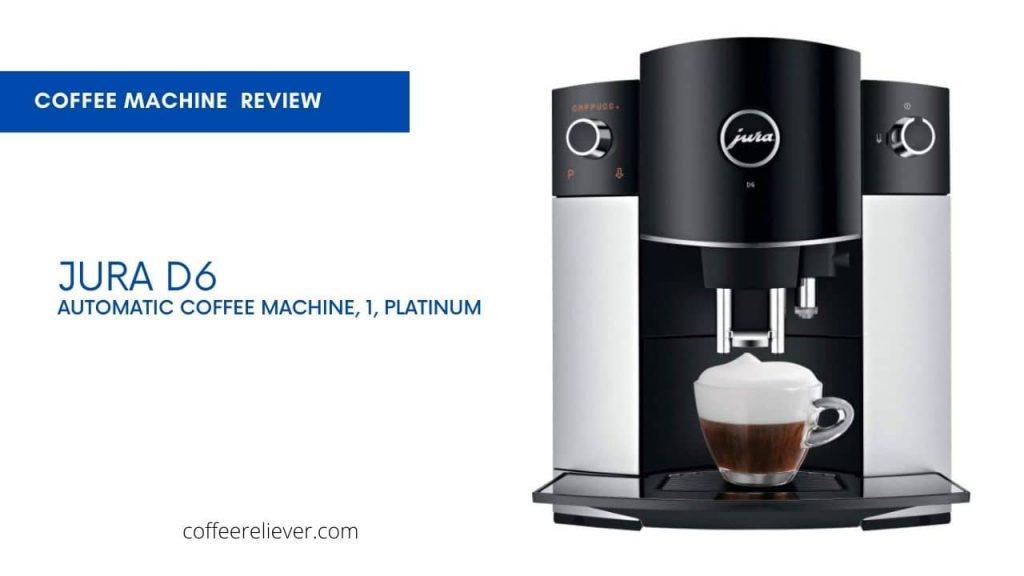 Jura D6 Automatic Coffee Machine, 1 Platinum