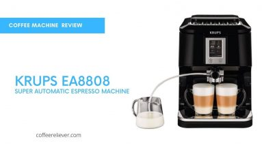This Is picture of KRUPS EA8808 2-IN-1 Touch Cappuccino Super Automatic Espresso Machine
