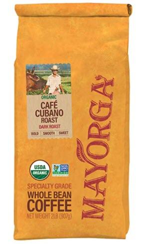 Mayorga Organics Café Cubano Roast, Dark Roast Whole Bean Coffee