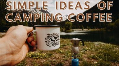 camping coffee on nature